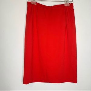 DVF Kimmie skirt cherry